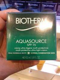 Biotherm - Aquasource - Crème ultra-légère multi-protectrice