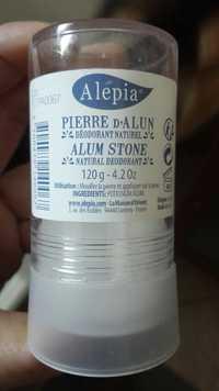 Alepia - Pierre d'Alun - Déodorant naturel