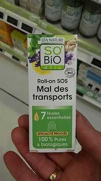 So'Bio étic - 7 huiles essentielles - Roll on SOS mal des transports bio