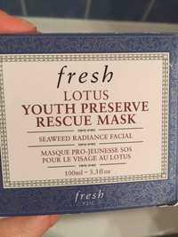 FRESH - Lotus youth preserve rescue mask