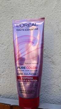 L'Oréal - Haute expertise pure color - Shampooing couleur & nutrition