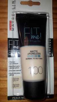 Maybelline - Fit me! matte + poreless - Fond de teint 100 ivoire doré