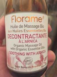 FLORAME - Décontractante à l'arnica - Huile de massage bio