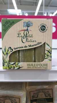 LE PETIT OLIVIER - 3 savons de Marseille à l'huile d'olive