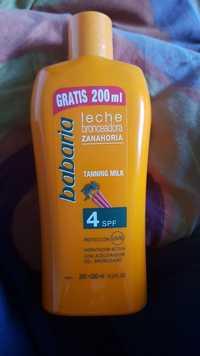 BABARIA - Leche bronceadora Zanahoria - Tanning milk spf 4
