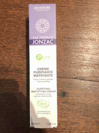 EAU THERMALE JONZAC - Pure - crème purifiante matifiante bio