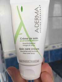 Aderma - Crème de soin au lait d'avoine rhealba