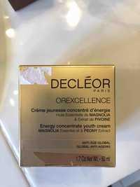 Decléor - Orexcellence - Crème jeunesse concentré d'énergie