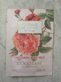 L'OCCITANE - Lait corps roses et reines en rouge