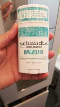 Schmidt's - Natural déodorant - Fragrance-free