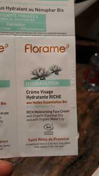 FLORAME - Hydratation - Crème visage hydratante riche bio