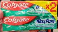 COLGATE - MaxPur Mousse Détox - Dentifrice