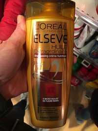 L'Oréal - Elseve huile extraordinaire - Shampooing crème nutrition