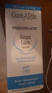 GAMARDE - Masque crème hydratation active bio