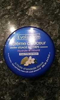 EVOLUDERM - Crème douceur visage & corps à l'huile d'amande douce