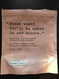 FRANK BODY - Le vrai gommage café - Exfoliant