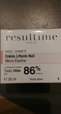 RESULTIME - Rides fermeté - Crème liftante nuit micro-élastine