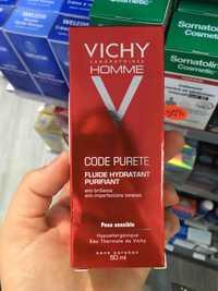 VICHY - Homme code pureté - Fluide hydratant purifiant