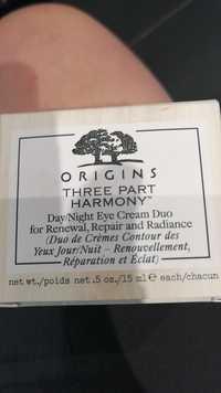 Origins - Three part harmony - Duo de crèmes contour des yeux