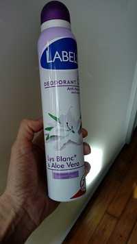 LABELL -  Déodorant anti-traces lys blanc & aloe vera