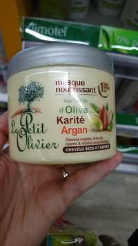 LE PETIT OLIVIER - Masque nourrissant aux huiles d'olive karité et argan