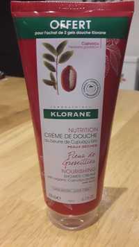 KLORANE - Crème de douche au beurre de cupuaçu bio - Peaux sèches