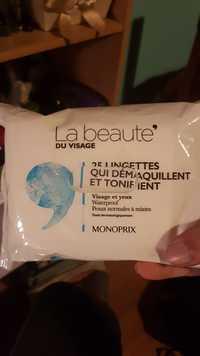 Monoprix - La beauté du visage - 25 lingettes qui démaquillent et tonifient