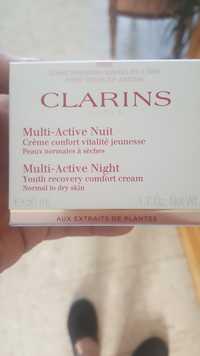 Clarins - Multi-active nuit - Crème confort vitalité jeunesse