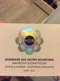 KOS PARIS - Gommage aux sucres mauriciens