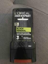 L'ORÉAL PARIS - Men expert black mineral - Black soap duschgel