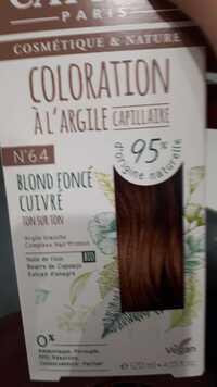 CATTIER - Coloration à l'argile capillaire N° 64 blond foncé cuivré