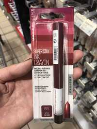 MAYBELLINE NEW YORK - Superstay ink crayon - Rouge à lèvres crayon mat