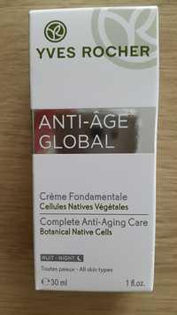 Yves Rocher - Anti-âge Global - Crème fondamentale nuit