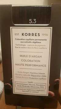 KORRES - Coloration haute performance - Huile d'argan