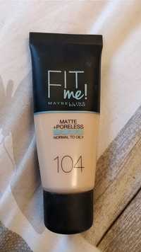 Maybelline - Fit me! - Matte+poreless 104
