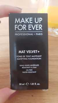 MAKE UP FOR EVER - Mat velvet + - Fond de teint matifiant