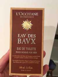 L'Occitane - Eav des bavx - Eau de toilette pour homme