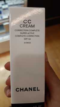 CHANEL - CC cream - Correction complète super active SPF 50 beige 20