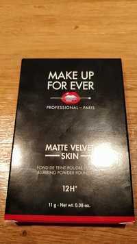Make up for ever - Matte velvet skin - Fond de teint poudre flou