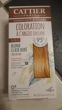 Cattier - Coloration à l'argile capillaire - Blond clair doré