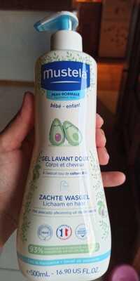 MUSTELA - Peau normal bébé - Gel lavant doux corps et cheveux