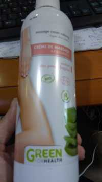 GREEN FOR HEALTH - Crème de massage apaisante