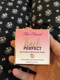 TOO FACED - Peach perfect - Mattifying loose setting powder