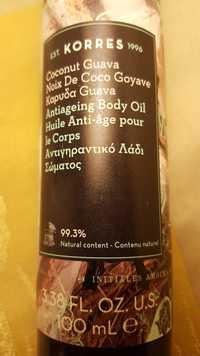 KORRES - Noix de coco goyave - Huile anti-âge pour le corps