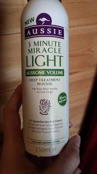 AUSSIE - Aussome volume - Deep treatment mousse 3 minute miracle