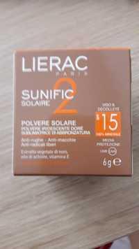 Liérac - Sunific solaire 2 - Polvere solare SPF 15