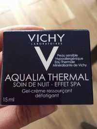 VICHY - Aqualia thermal - Soin de nuit - Effet SPA - Gel-crème ressourçant défatigant