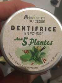 SAVONNERIE DU CÈDRE - Dentifrice en poudre aux 5 plantes