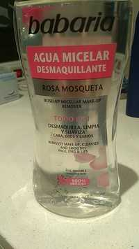 BABARIA - Rosa mosqueta - Agua micelar desmaquillante