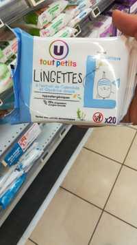 U Tout Petits - Lingettes à l'extrait de calendula et glycérine douce
